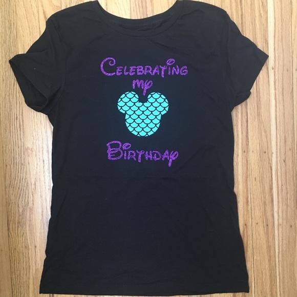 7d0b1b2cba2 Disney Little Mermaid Inspired Birthday Shirt. M 5c465894035cf130db2ba7da